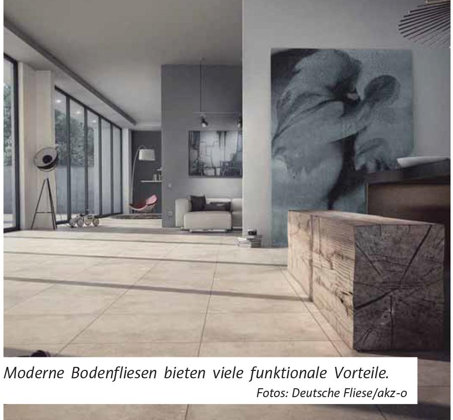 Moderne Bodenfliesen Bieten Viele Funktionale Vorteile, Sind Heute Aber Vor  Allem Hochwertige Design Produkte, Die Ein Zeitlos Schönes, ...